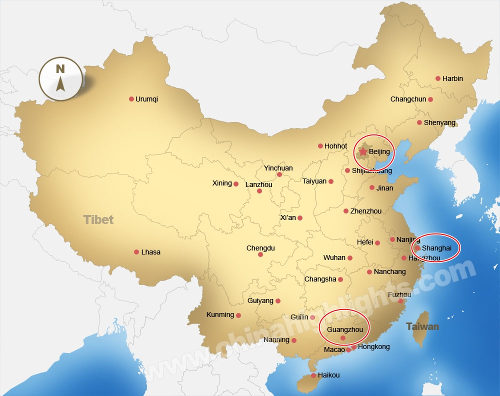 china map major cities Top 3 Cities For Sourcing Chinese Wholesale Items Chinese china map major cities